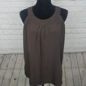 Dana Buchman Flowy Brown Tank Top Size Medium